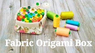 Diy fabric origami box | 布碎变收纳盒#HandyMum ❤❤