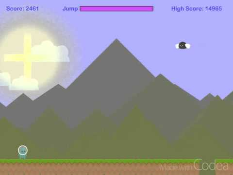 Simple endless runner game - example code - Codea