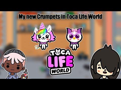 Моих два новых крампета Сова и Единорог в Toca Life World.Фотошоп