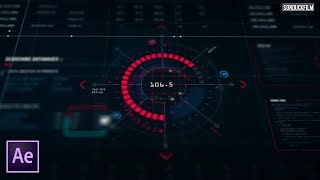 Create HUD Interface Sci-fi  Elements   After Effects Tutorial
