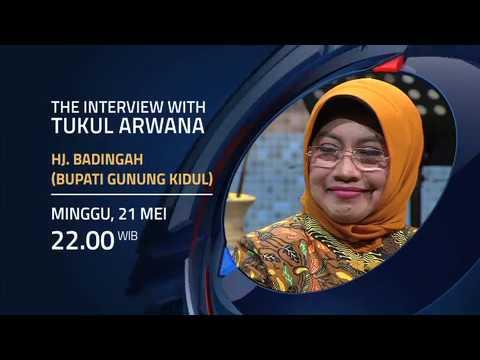 Bupati Gunungkidul dalam The Interview With Tukul Arwana