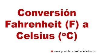 Convertir Fahrenheit F A Celsius C