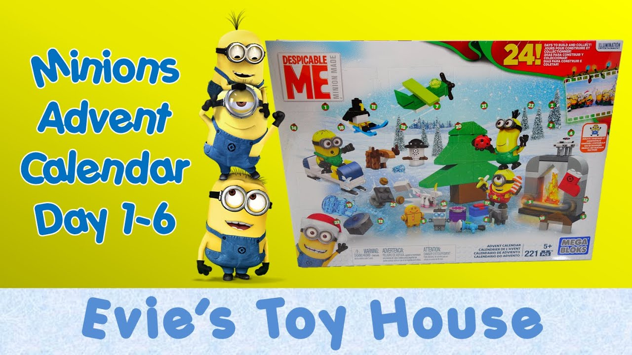 Minions Movie Despicable Me - 2015 ADVENT CALENDAR by Mega Bloks Review 1 | Evies Toy House