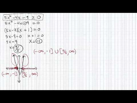Solving Quadratic Inequalities p5