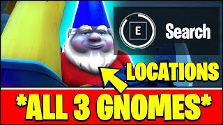 FIND GNOMES AT HOMELY HOMES LOCATIONS (ALL GNOME LOCATIONS) - Fortnite Season 3 Challenges