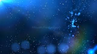 Blue moving background video | Sparkling particles on blue motion background | Royalty Free Footages