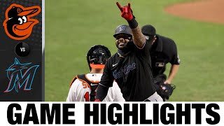Mattingly sets Marlins' win mark in 8-7 win | Orioles-Marlins Game Highlights 8/6/20