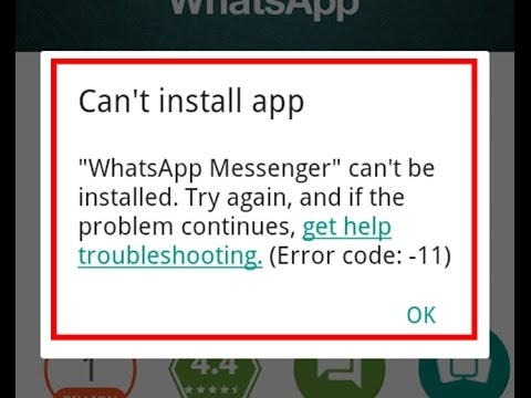 How To Fix Can't Install App-Error Code 11 In Google Play Store Mp3