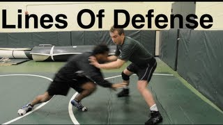 Lines Of Takedown Defense: Basic Wrestling Moves and Technique For Beginners