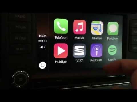 Apple CarPlay in a Seat Leon