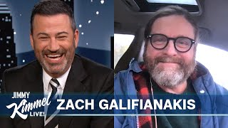 Zach Galifianakis Beams in From His Car in Canada