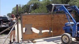 Installing Two Giant Property Gates