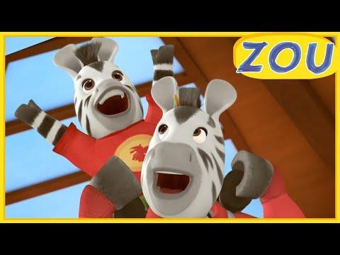 Zou en Français  🏸ZOU ET LE MATCH DE ZÈBREVILLE 🏸Dessins animés