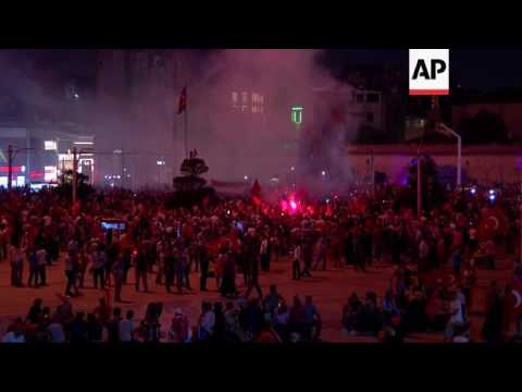 Erdogan supporters on streets of Istanbul