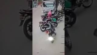 Child nearly hit by a truck.