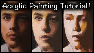 Portrait Painting Tutorial | Salvador Acrylic REVIEW + Blending Colors In ACRYLIC