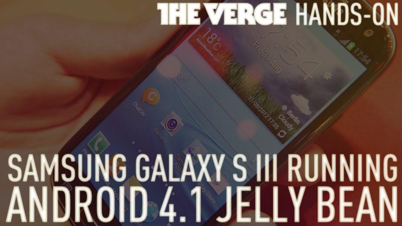 Samsung Galaxy S III running Android 4.1 Jelly Bean hands-on demo thumbnail