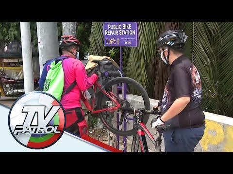 [ABS-CBN]  PANOORIN: Libreng bike repair stations sa QC | TV Patrol