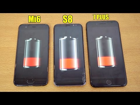 Xiaomi Mi 6 vs Samsung Galaxy S8 vs iPhone 7 Plus: test batteria