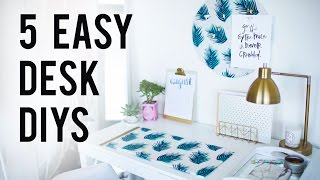 5 EASY DIY Desk Decor & Organization Ideas   ANN LE