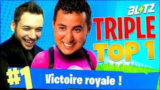 TRIPLE TOP1 EN MODE BLITZ ! (ft. Mickalow) ► FORTNITE