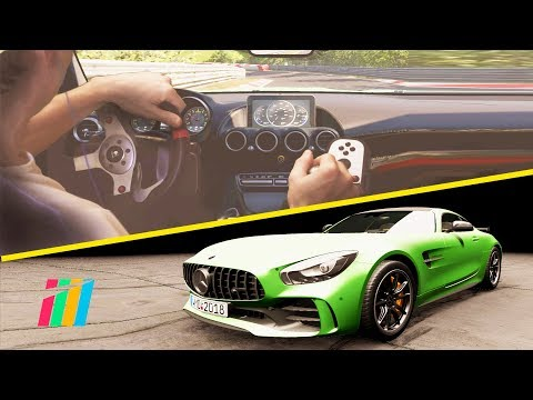 Nurburgring Nordschleife first realistic driving test / Project Cars 2 / MB AMG GT / Logitech G25