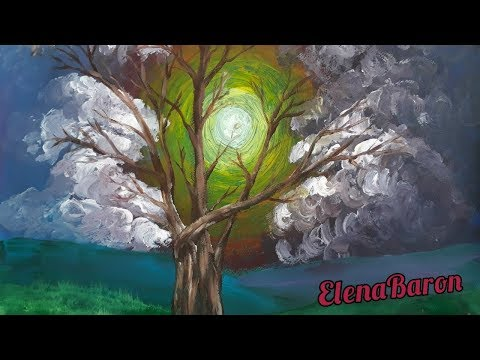 Acrylbild: Baum des Lebens