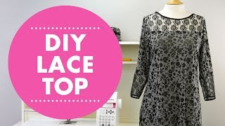 DIY Lace Top With Simplicity 8016