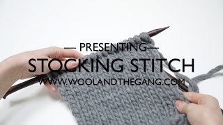 Stockinette stitch (Stocking stitch)