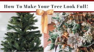 How to Make A Christmas Tree Look Fuller