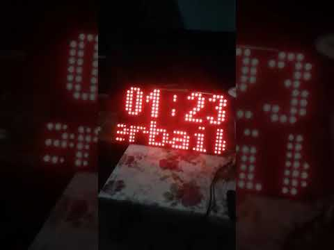 Arduino uno and p10 led module, date ,time and scrolling