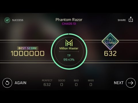 Cytus II] Phantom Razor CHAOS 13 - Million Master TP100 Thumb Play