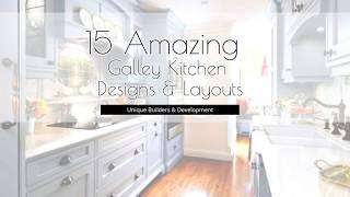 15 Amazing Galley Kitchen Designs & Layouts