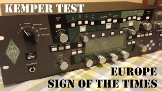 Europe - Sign Of The Times Solo (Checking out my new Kemper!)