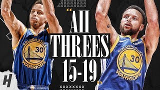 Stephen Curry ALL 121 Three-Pointers in 2015-2019 NBA Finals | MAKES FINALS HISTORY