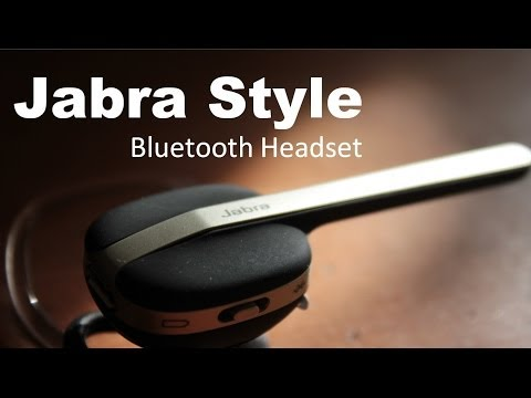 Jabra Style Bluetooth Headset - Simple and Elegant