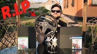 Какая консоль ЛУЧШЕ для ГОНОК? PS4 Pro vs Xbox One X | У меня умер Fanatec???!!!