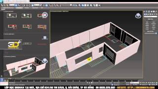 Dựng hình Tường và Cửa trên bản vẽ 2D - Dựng hình cơ bản 3dsmax