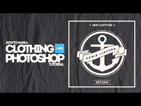 Video How to Make Design Vintage Clothing label | Photoshop SpeedART
