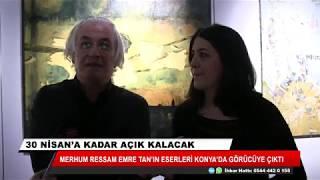 Merhum Ressam Tan'ın eserleri Konya'da görücüye çıktı