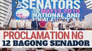 REPLAY: Proclamation Of Winning Senatorial Candidates In The May 13 Elections   #Eleksyon2019