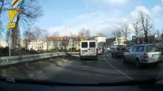preview picture of video 'Trasa egzaminacyjna WORD Słupsk PRAWO JAZDY: w lewo z ul. Szczecińskiej w ul. Tuwima'