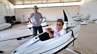 VISITING THE FLYING CAR SECRET FACILITY!