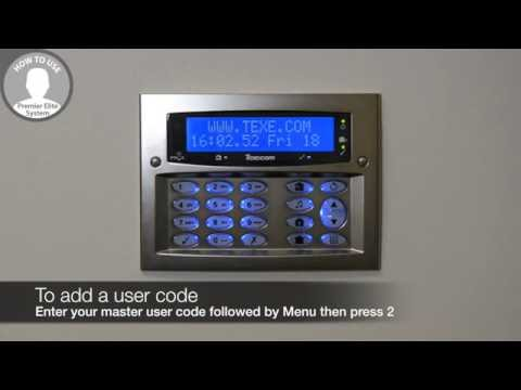 How to add a user code to a Texecom Premier Elite system