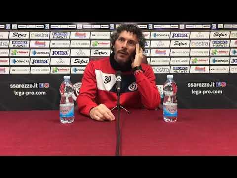 Arezzo-Olbia, la conferenza di mr Dal Canto