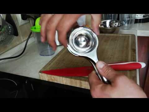 Deik Zitronenpresse edelstahl/Orangenpresse/Saftpresse manuell/ Spülmaschinenfest