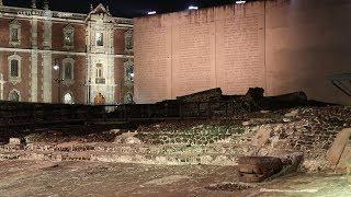 Templo Mayor iluminado