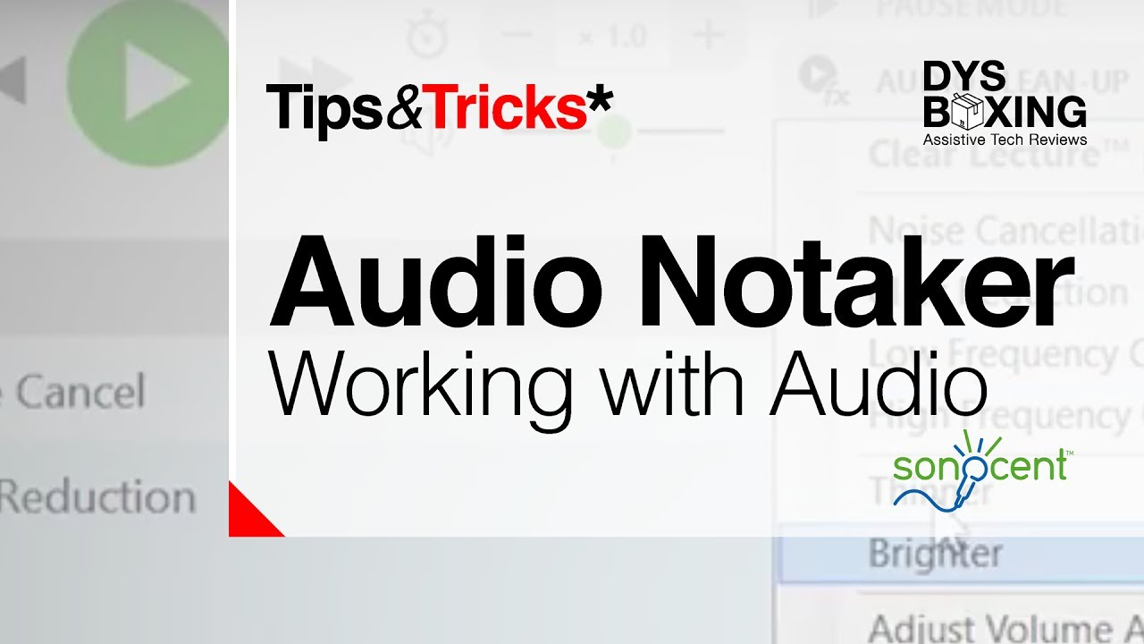 A demonstration using Audio Notetaker