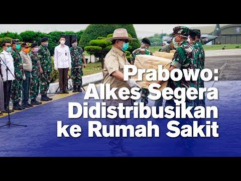 Prabowo: Alkes Segera Didistribusikan ke Rumah Sakit