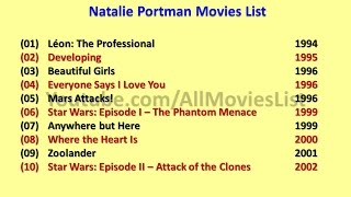Natalie Portman Movies List